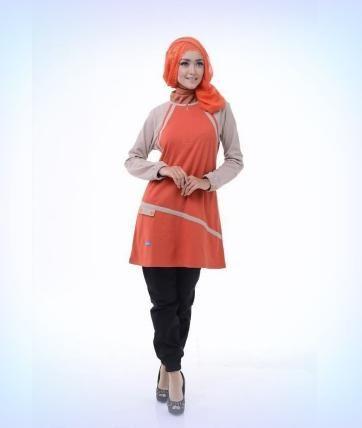 Beli Baju Atasan Wanita Tunik ALNITA AA - 11 MERAH BATA dari Aprilia Wati agenbajumuslim - Sidoarjo hanya di Bukalapak