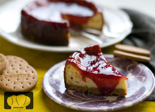 Tarta de queso y chocolate: English Translation, Cooking Step, Candies, Pork, Provide English, Cheese, Skewer, Kitchen