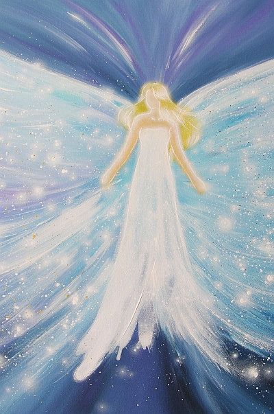 Limited angel art poster universal love modern by HenriettesART