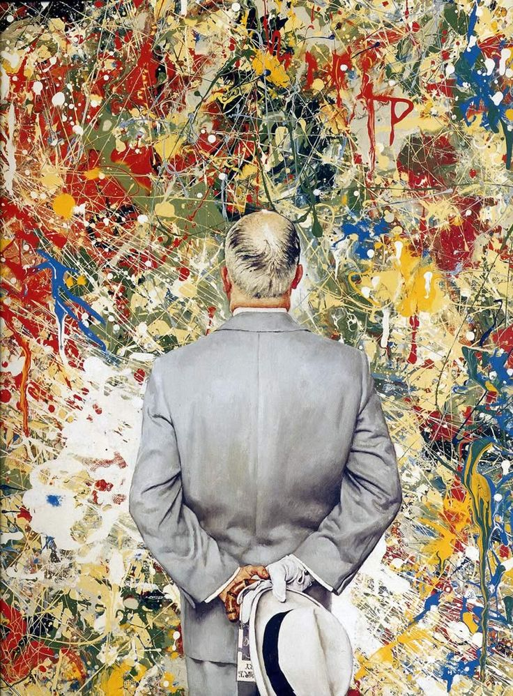 Norman Rockwell Detail of The Connoisseur, 1962