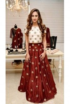 Payal Singhal Indian Wear Collection : CRYSTAL CROP TOP AND SKIRT