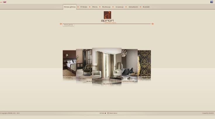 Flash website for Apriori Company. www.apriori.pl