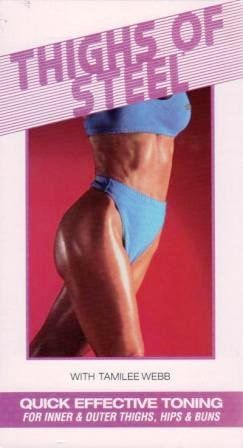 Thighs of Steel [VHS]:   Slim, sleek, shapely thighs are a blessing that comes naturally to few. Let's face it, for most women, every ounce of fat goes right to the thighs. Fortunately, you can have firm, toned thighs. And this is the video to get you there. This program has been designed so you can complete the entire workout all at once, or split it into two programs. Either way, you'll feel the muscles working to squeeze out the fat and define the lean. Inner and outer thighs, hamst...