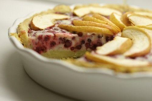 Чадейка - Брусничный пирог с яблоками