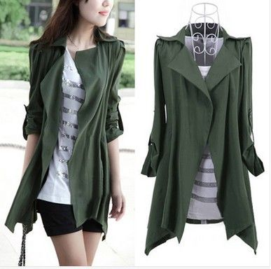 nieuwe 2014 lente herfst mode vrouwen vest slanke lange trenchcoat losse stijl plus size kleding voor vrouwen bovenkleding
