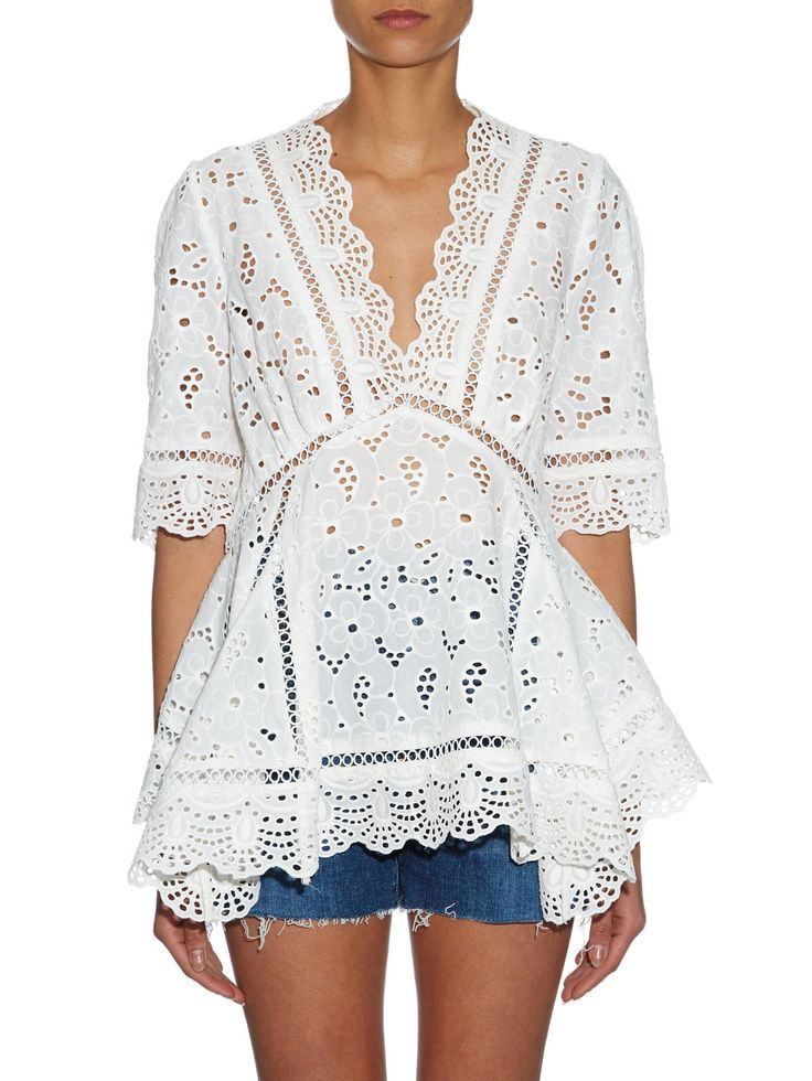 Hyper Eyelet broderie-anglaise top | Zimmermann | MATCHESFASHION.COM