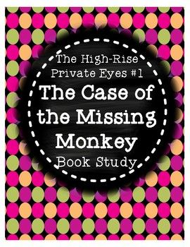 This product is a book study that corresponds with Cynthia Rylant's mystery book Case of the Missing Monkey from The High-Rise Private Eyes series. There are 5 comprehension questions for each chapter, along with vocabulary practice. A planning page is included so students can keep track of the mystery, suspects, clues, the victim, and how the case was solved.