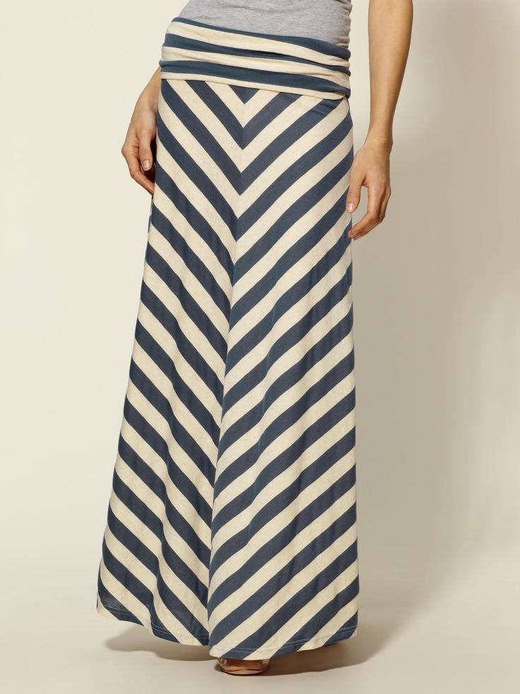 Piperlime chevron maxi skirt