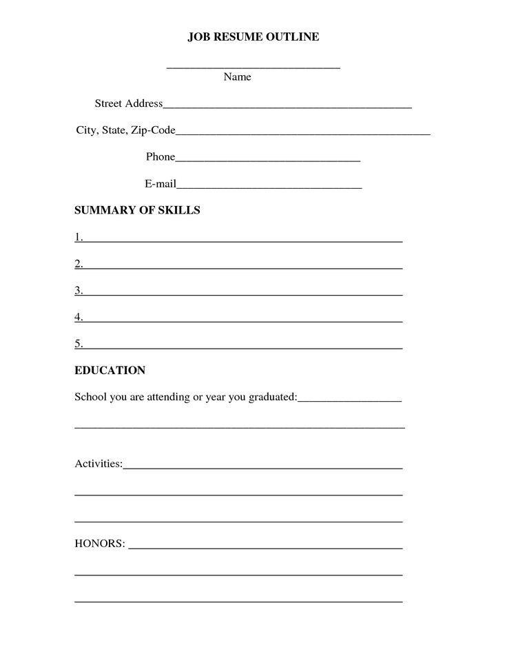 Více než 25 nejlepších nápadů na Pinterestu na téma Outline format - resume outline pdf