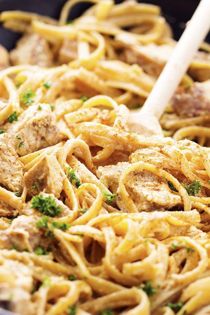 Cajun chicken alfredo pasta. One pot.