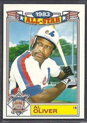 1984 Topps Baseball 1983 Glossy All Star Al Oliver Expos   eBay