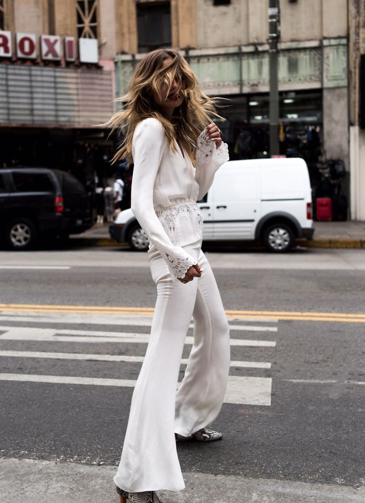 This is how to wear all white via TheyAllHateUs