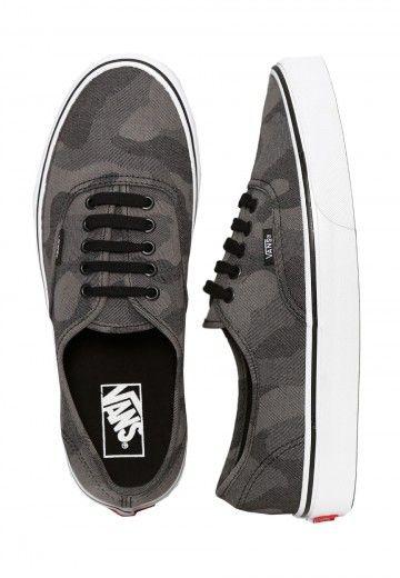 Vans - Authentic Camo Jacquard Black/True White - Chaussures - Chaussures - Impericon.com FR