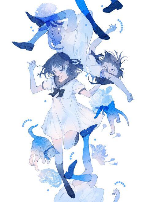 [pixiv]Blue carnation by ajimita