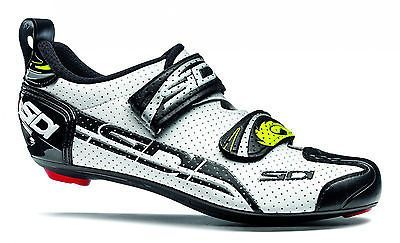 Sidi t-4 air #carbon comp #triathlon bike shoes #white/black, View more on the LINK: http://www.zeppy.io/product/gb/2/321969342286/
