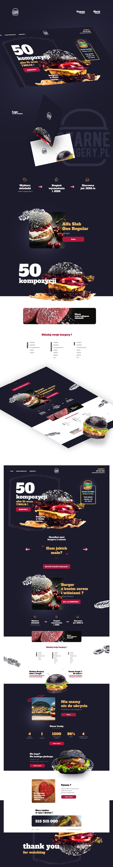 Web design/website Black burgers. Dark clean theme with interesting colors.