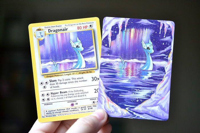Il redonne vie à des anciennes cartes Pokémon en les repeignant #culturepub