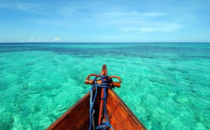 This is where I want to be right now! Ras Nungwi Beach Hotel, Zanzibar - view from a dhow