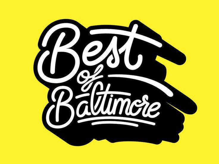 Cover Design: Best Of Baltimore by @bijdevleet