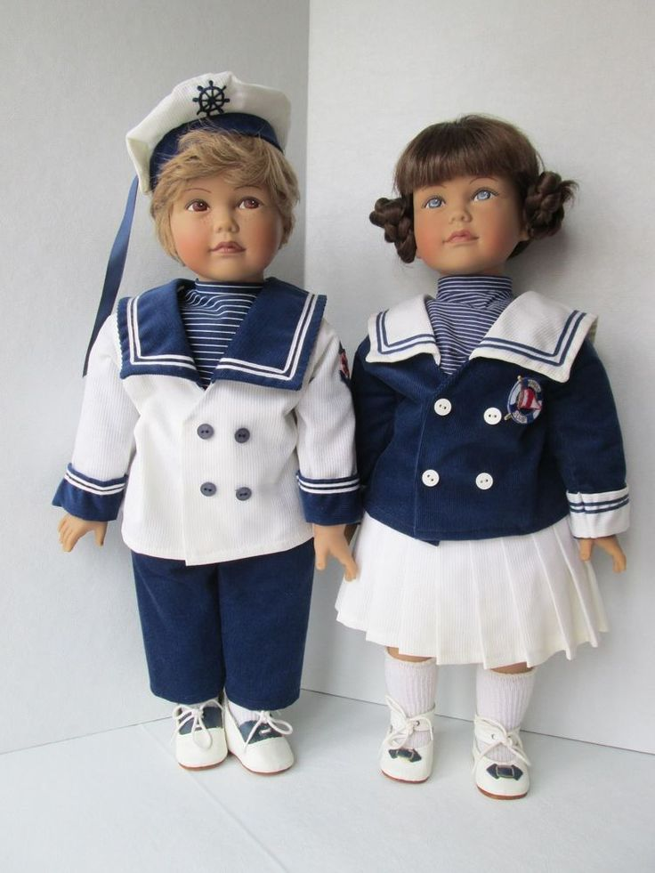 Vintage Heidi Ott Artist Originals Nautical Set Imelda and Kurt  1989
