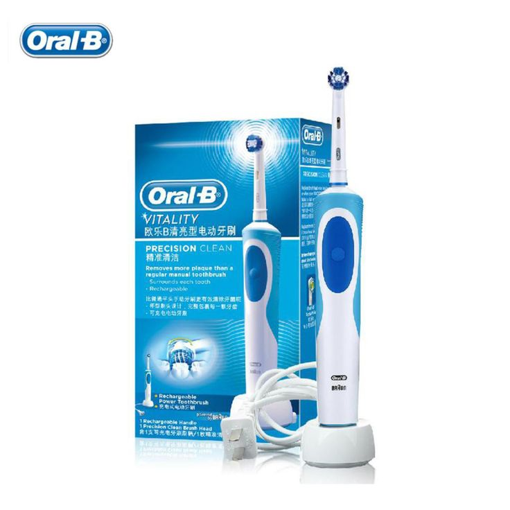 Braun Oral B Vitality  Electric Toothbrush / Rechargeable Brush Heads for Adults Precision Clean Rechargeable Tooth Brush HOT