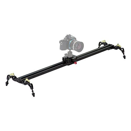 Fotodiox+Pro+SlideCam+800+–+32″+Video+Slider+Stabilizer+Rail+with+Ball-Bearing+Slide,+Adjustable+Legs+&+Case