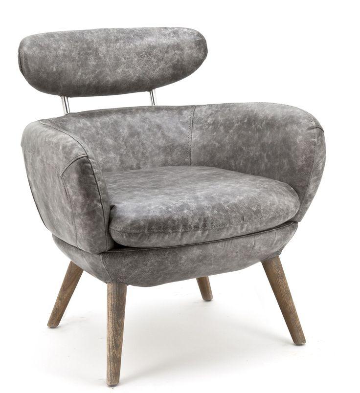 Zelena fauteuil grijs - Eleonora