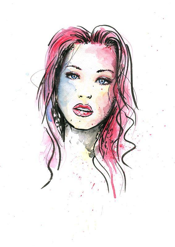 Buntes Gesicht Mit Bildern Zeichnungen Skizzierung