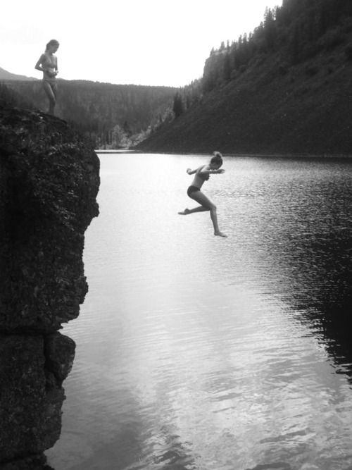 love doing this...hate it right before jumping but love it the moment after