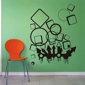 Wall Designs Stickers 381 best abstract wall decals images on pinterest | wall design