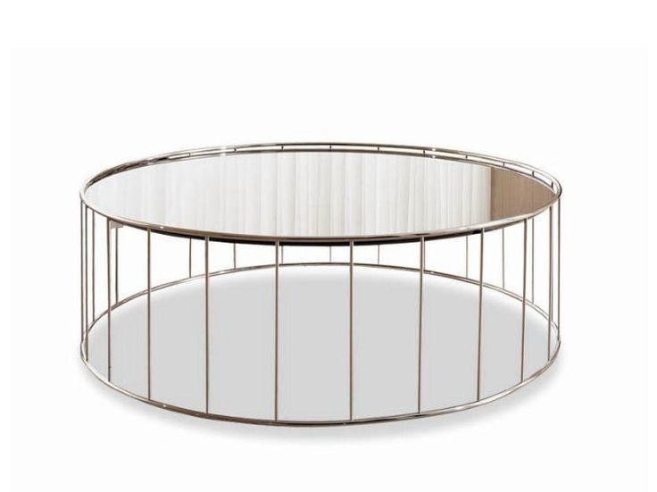 Moderner Runder Glasesstisch Ac Molteni - Design