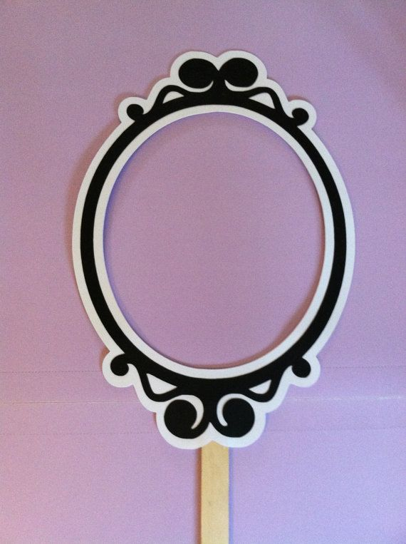 Photo frame on a stick, Wedding photo props, photo booth props