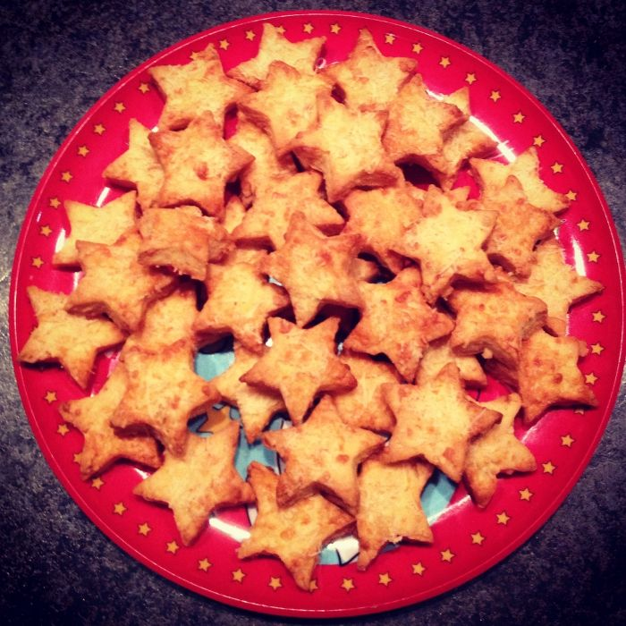 Cheesy Christmas Stars