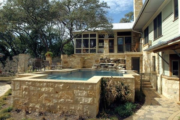 Above ground pool outdoors pools waterscapes for Built in swimming pools
