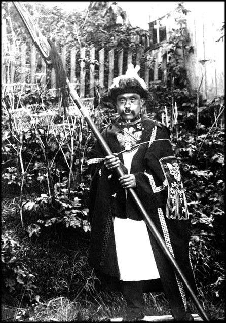 Tlingit Warrior. c. 1896.