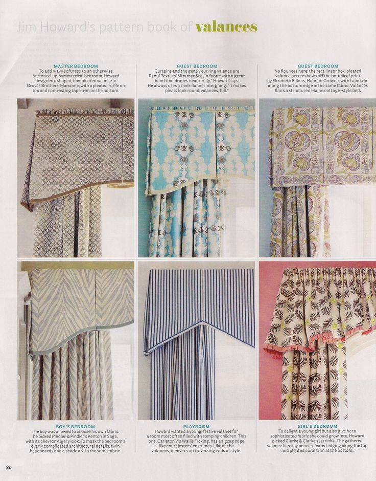 Jim Howard 39 S Pattern Book Of Valances Resources