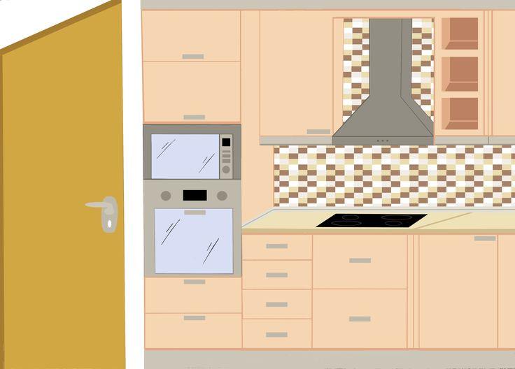 Κουζίνα γωνιακή σχέδιο Α