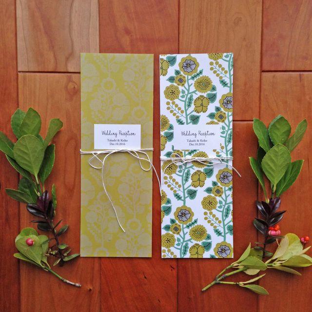 ※8、9月のご挙式分のオーダーは終了させていただきます。mimosa (ミモザ) をテーマとした 結婚式の席次表 10部 set です。穏やかなあたたかみのあるミモザ色のペーパーアイテムで 大切な結婚式を彩りませんか。 表紙のお色をお選びいただけます。大...