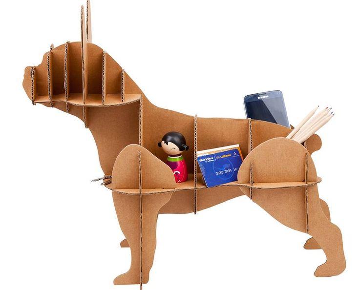 'french bulldog ' cardboard dog storage by thelittleboysroom | notonthehighstreet.com