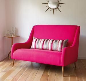Cute: Bedrooms Offices, Pink Sofas, Kitchens Tables, Make A Room, Pink Room, Pink Furniture, Hot Pink, Studios Couch, Sofas Workshop