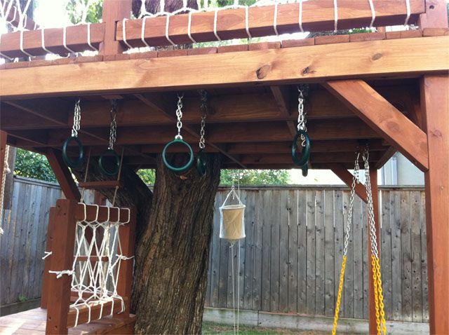 Swing Under Deck Backyards