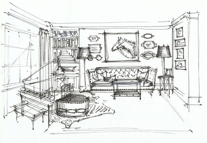 interiors watercolor interiors drawing drawing interior interiors