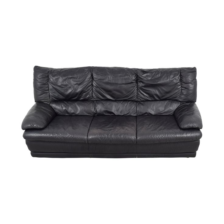 Buy IKEA Black Leather Sofa IKEA