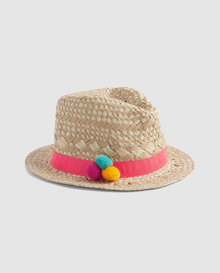 Sombrero de paja de niña Gap en natural con pompones · GAP · Moda · El Corte Inglés