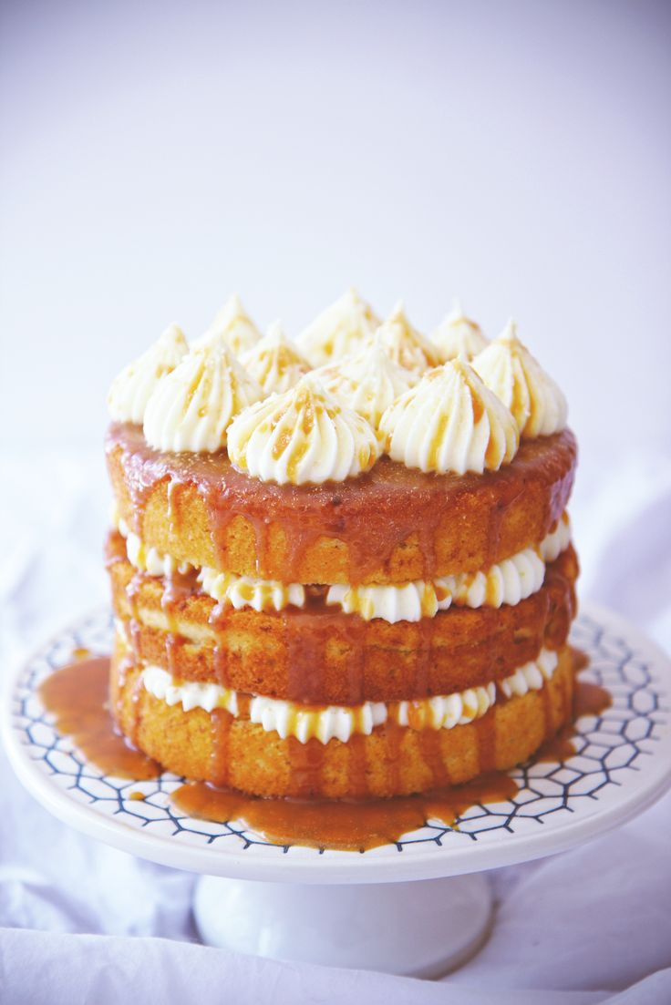 Cream Cheese and Salted Caramel Cake