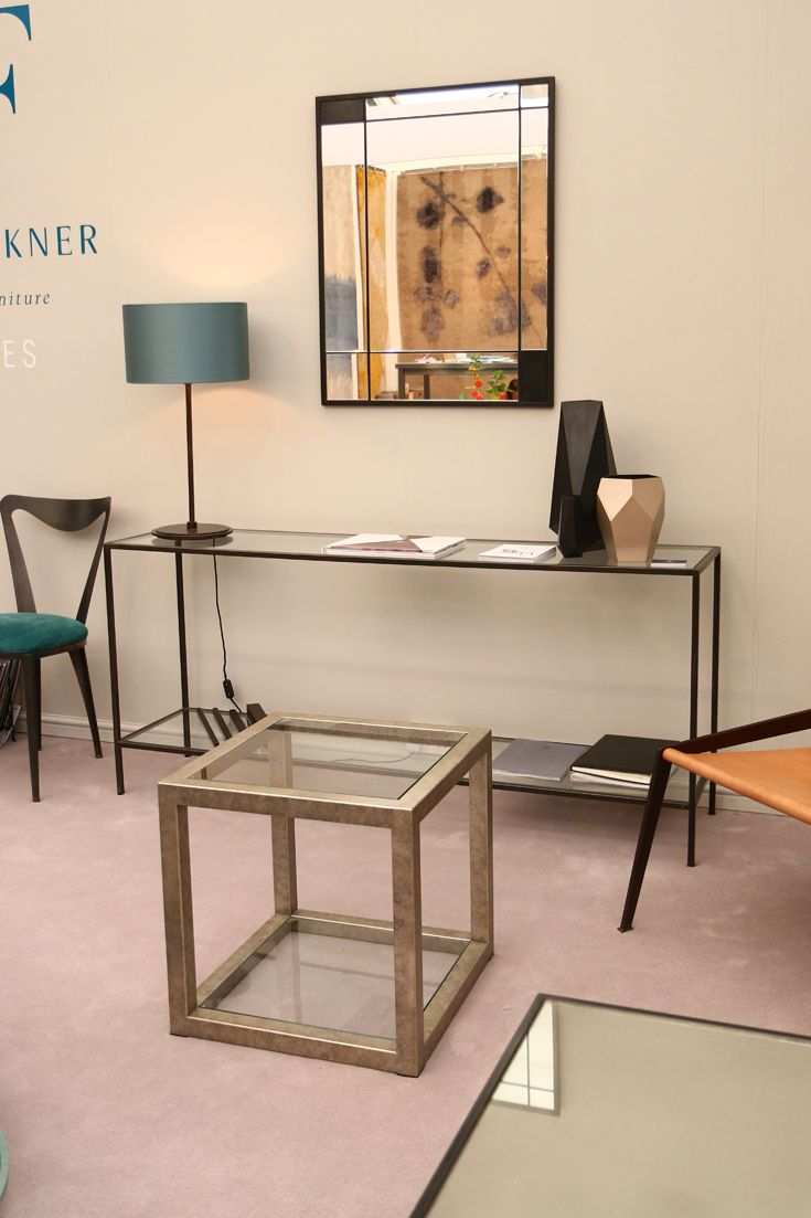 Avenues collection at #decorex 2015 featuring #metal #side_tables, #console_tables & #coffee_tables with #glass & #marble tops.