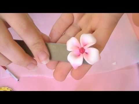 Fimo Tutorial: Fiore particolare (video collaborazione) - YouTube