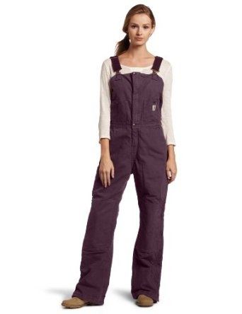 Women's Carhartt bibs in Dusty Plum. So glad Carhartt has a ladies line!
