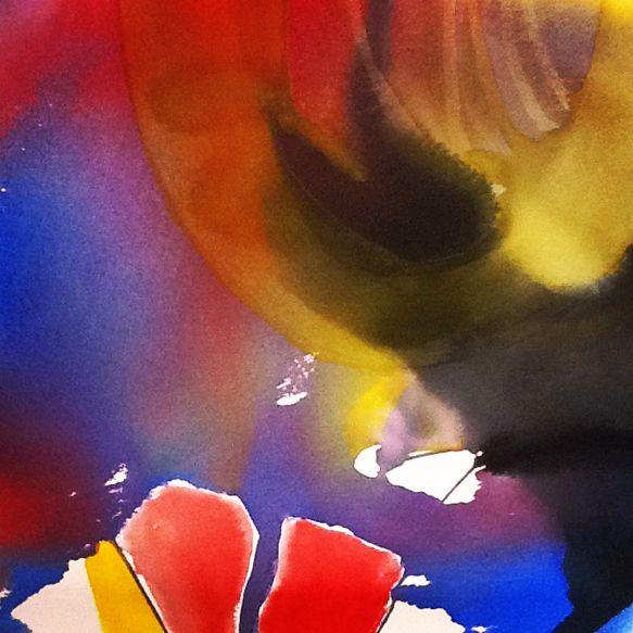 """Drama Queen"" by Bianka Guna Art 2012 Series Watercolour on Paper  20""x20"""