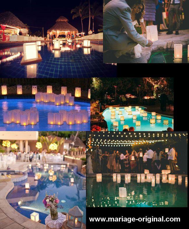 Les 25 meilleures id es de la cat gorie lanternes flottantes sur pinterest lanternes - Decoration autour de la piscine ...